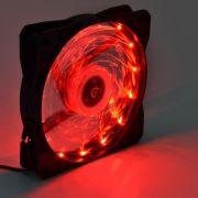 Cooler para Computador Led Fan Red VISUTEC