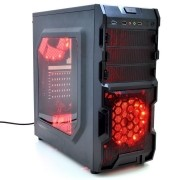Gabinete Gamer Tampa Acrilica USB 3.0 e Cooler Fan Led CL G30B VISUTEC