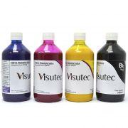 Kit 2L de tinta Pigmentada para Epson e Brother (500ml de cada cor) VISUTEC