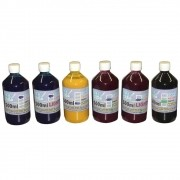Kit 3L de Tinta Pigmentada para Epson e Brother (500ml de cada cor) VISUTEC