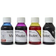 Kit 400ml de Tinta Corante HP 8000, 8100, 8500 e 8600 VISUTEC