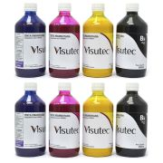 Kit 4 Litros de Tinta Pigmentada para Epson e Brother (1L de cada cor) VISUTEC
