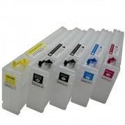 Kit 5 Cartuchos Recarregáveis T3070, T3270, T5070, T5270, T7070 e T7270 VISUTEC