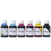 Kit 600ml de tinta corante para Epson e Brother (100ml de cada cor) VISUTEC