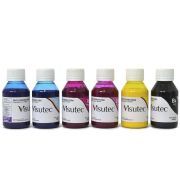 Kit 600ml de Tinta Pigmentada para Epson e Brother (100ml cada cor)