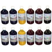 Kit 6L de Tinta Pigmentada para Epson e Brother (1L de cada cor) - VISUTEC