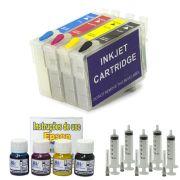 Kit Cartuchos Recarregáveis T40W  + 120 ml de Tinta Pigmentada