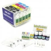 Kit Cartuchos Recarregáveis Tinta Pigmentada para Epson T33 (Completo) VISUTEC