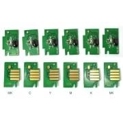 Kit  com 6 Chips para Canon nos Modelos IPF500,IPF510,IPF600,IPF605,IPF610,IPF700,IPF710,IPF720 VISUTEC