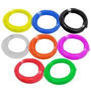 Kit Filamento ABS para Caneta 3D 1,75mm  Kit 8 Cores 10m Cada