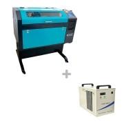 Kit Máquina Router Laser CNC VS6040 50W + Chiller CW-5000 Visutec