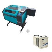 Kit Máquina Router Laser CNC VS6040 60W + Chiller CW-5000 Visutec
