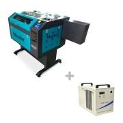 Kit Máquina Router Laser CNC VS6040 80W + Chiller CW-5000 Visutec
