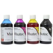 Kit Tinta Corante HP 8000, 8100, 8500, 8600 + 250ml (cada cor) - VISUTEC