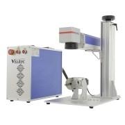 Máquina de Gravação a Laser Fiber Galvanométrica de Mesa 20W com Rotary VS-FP20W-LR