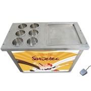 Máquina de Sorvete com 1 chapa e 6 cubas SORVETEC