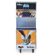 Máquina de Sorvete Expresso de Piso 3 Bicos Cuba Refrigerada de 40L de produção por hora SH
