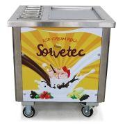 Máquina de Sorvete na Chapa com 5 compartimentos resfriados SORVETEC