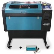 Máquina Router Laser Cnc VS6040 Corte E Gravação Completa 60x40cm 50W Com Eixo Rotativo VISUTEC
