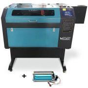 Máquina Router Laser CNC VS6040 Corte e Gravação 60x40cm 60W Com Eixo Rotativo VISUTEC