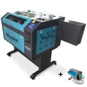 Máquina Router Laser Cnc VS6040 Corte E Gravação Completa 60x40cm 80W Com Eixo Rotativo VISUTEC