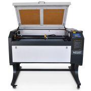 Máquina Router Laser Cnc VS9060 Corte e Gravação 90x60cm 100w VISUTEC