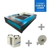 Máquina Router laser VS1390-SMART 130W + Exaustor + Chiller CW-5000