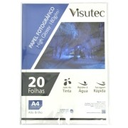 Papel Fotográfico Glossy A4 180gr Pacote 200 unidades VISUTEC