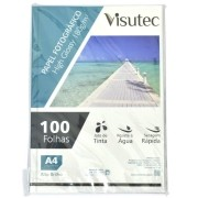 Papel Fotográfico Glossy A4 180gr - Pacote com 100 Folhas VISUTEC