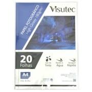 Papel Fotográfico Glossy A4 180gr - Pacote com 20 Folhas VISUTEC