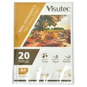Papel Fotográfico Glossy A4 240g Pacote com 20 Folhas VISUTEC