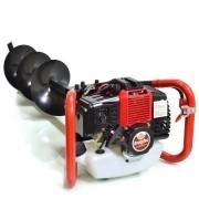 Perfurador de Solo Gasolina 52cc + Broca 80x20cm BRUTATEC
