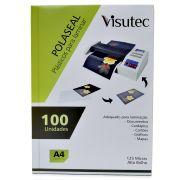Polaseal para Plastificação A4 de 0,05mm - 100 unidades VISUTEC