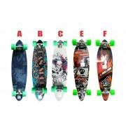 Skate Longboard 91,5 Truck Blindado Invert Rodas 70 Abec 9 FÁCIL TEC