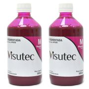 Tinta Pigmentada Magenta para Epson e Brother (1 Litro) VISUTEC