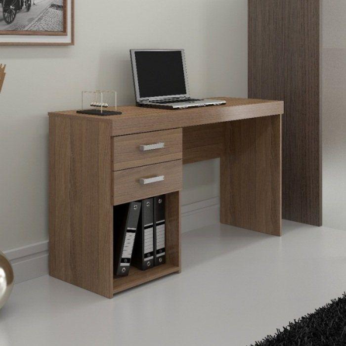 Mesa para Computador Malta Escrivaninha com 2 Gavetas - Politorno