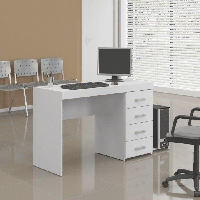 Mesa para Computador Malta Escrivaninha com 4 Gavetas - Politorno