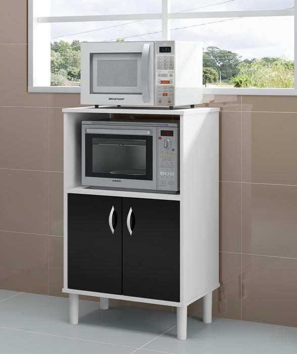 Armário de Cozinha com Espaço para Microondas Cerro Largo - Politorno