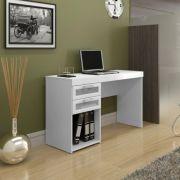 Mesa para Computador Malta Escrivaninha com 2 Gavetas de Vidro - Politorno