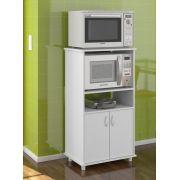 Armário de Cozinha para Microondas e Forno Elétrico Blumenau Branco - Politorno