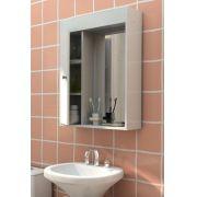 Armário para Banheiro com Espelho Branco - Politorno