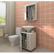Conjunto para Banheiro 2 Peças com Gavetas Branco - Politorno