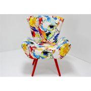 Poltrona Decorativa Alana com Pés Coloridos - Domi