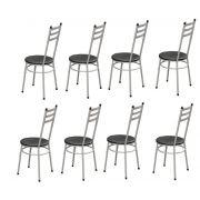 Kit 08 Cadeiras 135 Aço Carbono Pintura Epóxi - Marcheli