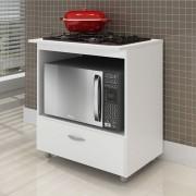 Balcão de Cozinha Cooktop e Forno BL 140 Branco - Completa Móveis