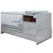 Berço Cama com Mesa de Cabeceira BB 670 Branco - Completa Móveis