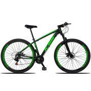 Bicicleta Aro 29 Quadro 15 Alumínio 21 Marchas Suspensão Freio Disco XLT - KSW
