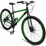 Bicicleta Aro 29 Quadro 17 Aço Freio a Disco Mecânico 21 Marchas - Dropp