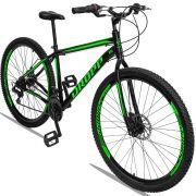 Bicicleta Aro 29 Quadro 19 Aço Freio a Disco Mecânico 21 Marchas - Dropp