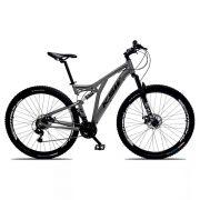 Bicicleta Aro 29 Quadro 19 Alumínio 21v Suspensão Freio a Disco Full Impact - KSW